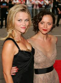 Reese Witherspoon and Christina Ricci at the gala presentation of