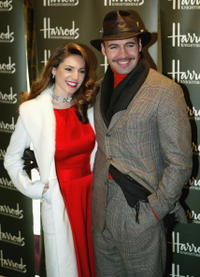 Billy Zane and Kelly Brook at the opening of the Harrods January Sale.