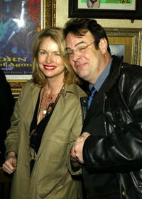 Dan Aykroyd and his wife Donna Dixon at the Hard Rock Cafe to celebrate the 50th Anniversary of Rock and Roll.