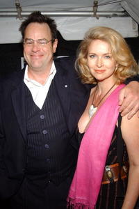 Dan Aykroyd and his wife Donna Dixon at the premiere of the Lizzie Mcguire Movie during the Tribeca Film Festival.