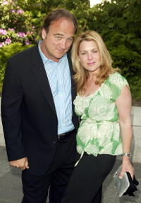 James Belushi and his wife Jennifer Sloan at the ABC upfront at Lincoln Center.