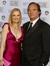 James Belushi and Marg Helgenberger at the 61st Annual Golden Globe Awards.