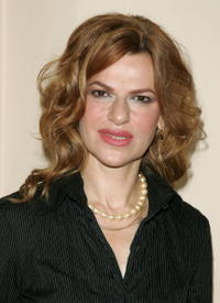 Sandra Bernhard at the celebration of the launch of MAC Cosmetics Plushgalss Lipcolor.