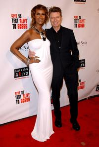 Iman and David Bowie at the Keep a Child Alive organization's 5th annual Black Ball.