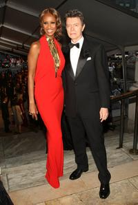 David Bowie and Iman at the 25th Anniversary of the Annual CFDA Fashion Awards.