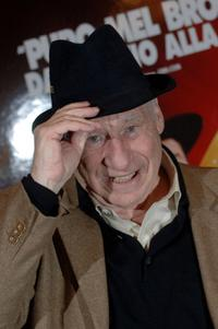 Mel Brooks at the St Regis Grand Hotel poses for the film version of