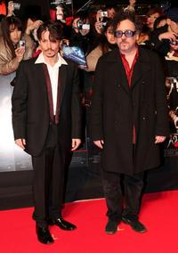 Johnny Depp and Tim Burton at the Japan premiere of