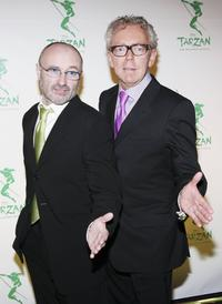 Phil Collins and Bob Crowley at the opening night of