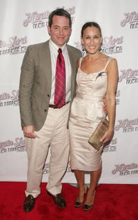 """Matthew Broderick and Sarah Jessica Parker at the opening night of """"Martin Short: Fame Becomes Me"""" in New York City."""