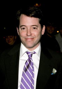"""Matthew Broderick at the taping of """"The Late Show with David Letterman"""" in New York City."""