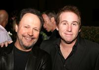 Billy Crystal and Mike Binder at the opening of the Dominique Cohen Flagship Jewelry Store.