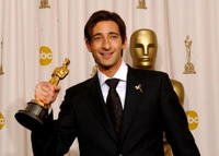 Adrien Brody at the 75th Annual Academy Awards in Hollywood, California.