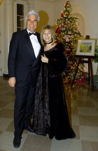 James Brolin and Barbra Streisand at the White House.