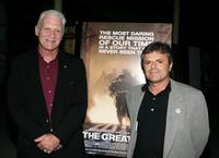 Dale Dye and Martin Katz at the premiere of