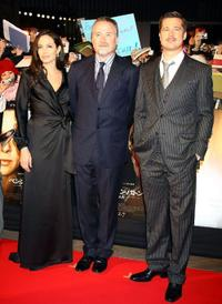 Angelina Jolie, David Fincher and Brad Pitt at the Japan premiere of