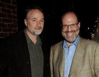 David Fincher and producer Scott Rudin at the Blu-ray & DVD launch party of