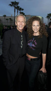 Paul Hogan and Jerri Manthey at the premiere of