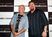 Paul Hogan and Shane Jacobson at the press conference of