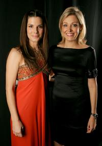 Sandra Bullock and Nadja Swarovski at the 9th annual Costume Designers Guild Awards - backstage.