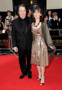 Roger Allam and Rebecca Saire at the Olivier Awards 2011 in England.