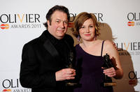 Roger Allam and Nancy Carroll at the Olivier Awards 2011 in England.