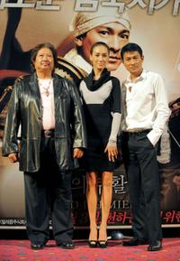 Sammo Hung, Maggie Q and Andy Lau at the event to promote