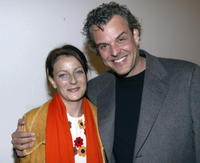 Danny Huston and his wife Katie at the Robert Graham Art Gallery Opening.