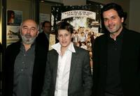 Gerard Jugnot, Jean-Baptiste Maunier and Christophe Barratier at the premiere of