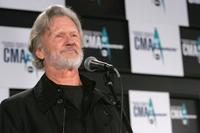 Kris Kristofferson at the press room at the 40th Annual CMA Awards at the Gaylord Entertainment Center.