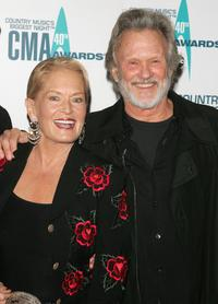 Kris Kristofferson and Lynn Anderson at the 40th Annual CMA Awards at the Gaylord Entertainment Center.