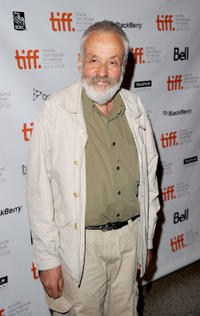 Mike Leigh at the premiere of