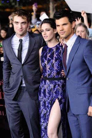 Robert Pattinson, Kristen Stewart and Taylor Lautner