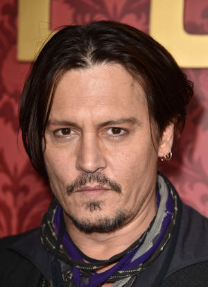 "Johnny Depp at the California premiere of ""Mortdecai."""