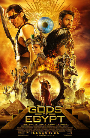 "Poster art for ""Gods of Egypt."""