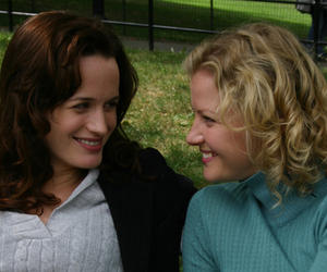 "Allegra (Elizabeth Reaser) starts a relationship with Grace (Gretchen Mol) in ""Puccini for Beginners."""