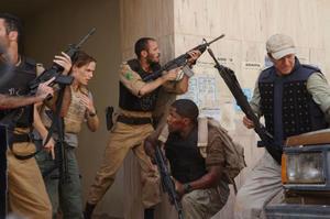 "Jennifer Garner, Ali Suliman, Jamie Foxx and Chris Cooper in ""The Kingdom."""