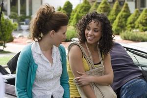 "Scarlett Johansson and Alicia Keys in ""The Nanny Diaries."""