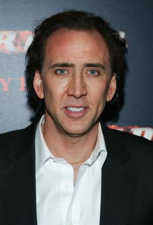 """Ghost Rider"" star Nicolas Cage at the N.Y. premiere."