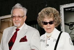 "The real-life subjects of the film, Burt and Linda Pugach at the N.Y. premiere of ""Crazy Love."""