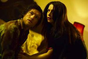 "Sam Worthington and Victoria Hill in ""Macbeth"""