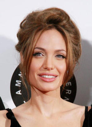 """A Mighty Heart"" star Angelina Jolie at the N.Y. premiere."