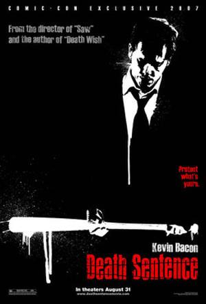 "Poster art for ""Death Sentence."""