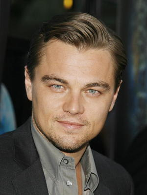 """""""The 11th Hour"""" star Leonardo DiCaprio at the Hollywood premiere."""