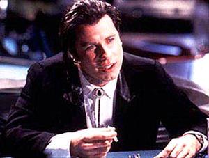 "John Travolta in ""Pulp Fiction."""