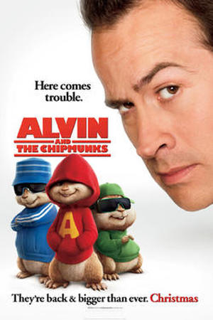 "Poster art for ""Alvin and the Chipmunks."""