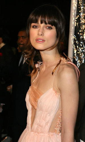 """""""Atonement"""" star Keira Knightley at the Beverly Hills premiere."""