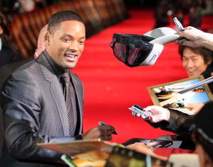 """I Am Legend"" star Will Smith at the Japan premiere."