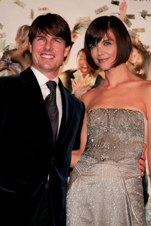 """Tom Cruise and Katie Holmes at the """"Mad Money"""" premiere in Westwood, California"""