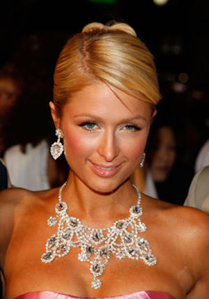 "Actress Paris Hilton at the Hollywood premiere for ""The Hottie & the Nottie."""