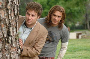 "Seth Rogen and James Franco in ""Pineapple Express."""